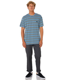 DUSTY BLUE MENS CLOTHING STUSSY TEES - ST005102DSTBL
