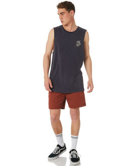 NAVY ACID MENS CLOTHING RVCA SINGLETS - R182009NVYAC