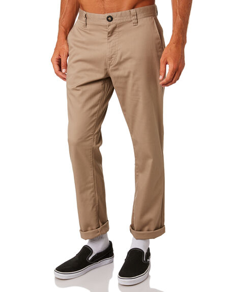 KHAKI MENS CLOTHING VOLCOM PANTS - A1131807KHA