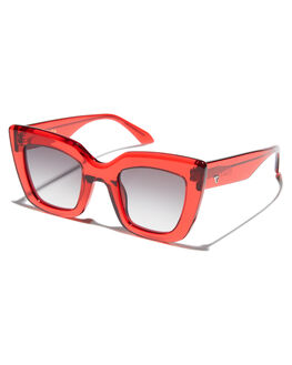 TRANSPARENT RED MENS ACCESSORIES VALLEY SUNGLASSES - S0446TRED