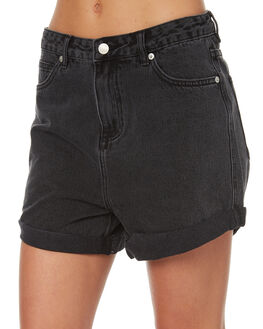 AGE OLD BLACK WOMENS CLOTHING ASSEMBLY SHORTS - AS-W1618AOB