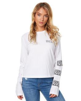 WHITE WOMENS CLOTHING RVCA TEES - R273091WHT