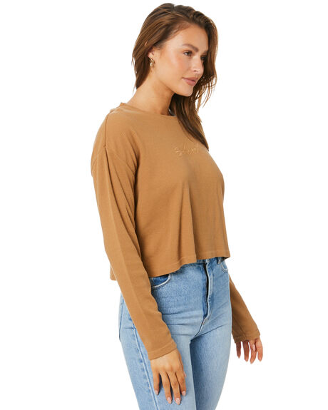BROWN WOMENS CLOTHING SILENT THEORY TEES - 6073005BRWN