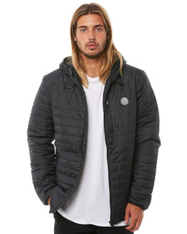 BLACK MENS CLOTHING RIP CURL JACKETS - CJKCT10090