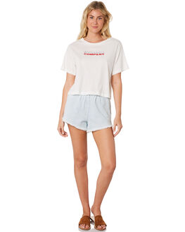 DIRTY WHITE WOMENS CLOTHING THRILLS TEES - WTS8-119ADWHI