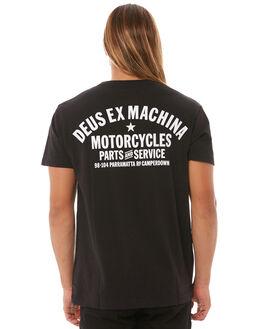 BLACK MENS CLOTHING DEUS EX MACHINA TEES - DMW41808ABLK