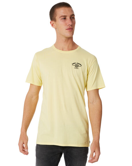 VINTAGE YELLOW OUTLET MENS BANKS TEES - WTS0255VYL