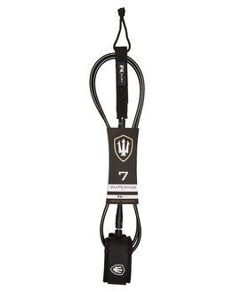 BLACK WHITE BOARDSPORTS SURF FAR KING LEASHES - 1282BLKWH