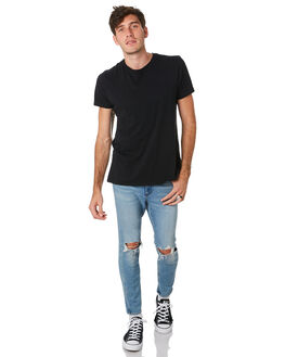HUSTLE INDIGO MENS CLOTHING WRANGLER JEANS - W-901649-MM8HSTIN