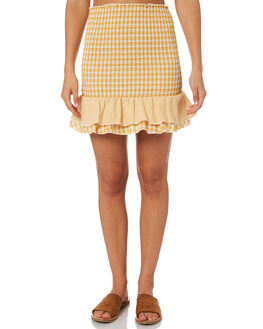 YELLOW WOMENS CLOTHING MINKPINK SKIRTS - MP1806538YEL