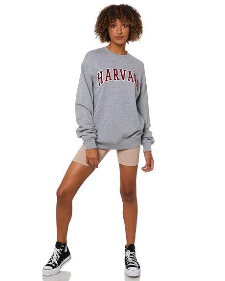 GREY MARLE WOMENS CLOTHING NCAA HOODIES + SWEATS - NCHU0034GRYML