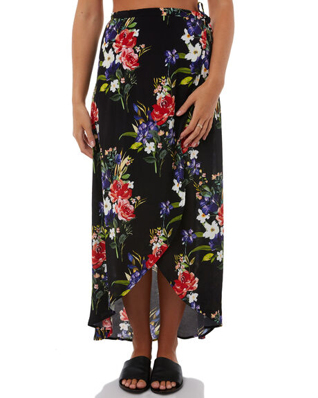 FLORAL WOMENS CLOTHING SWELL SKIRTS - S8182473FLRAL