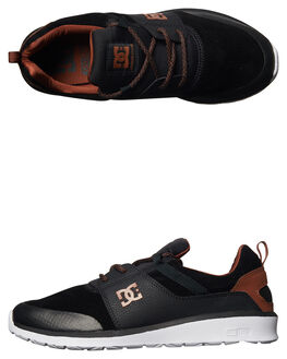 BLACK BROWN WHITE MENS FOOTWEAR DC SHOES SNEAKERS - ADYS700084XKCW
