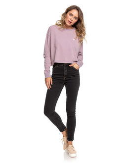 MAUVE SHADOWS WOMENS CLOTHING ROXY TEES - ERJZT04830-PHQ0