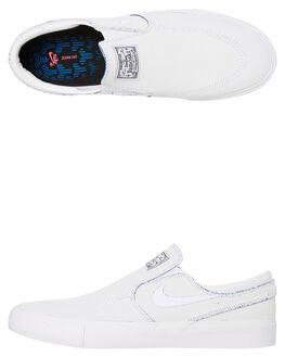 WHITE MENS FOOTWEAR NIKE SLIP ONS - CJ6892-100
