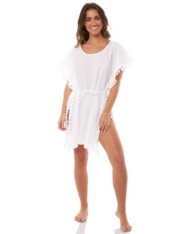WHITE WOMENS CLOTHING NINE ISLANDS FASHION TOPS - M8182442WHITE