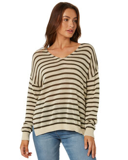 RIFLE STRIPE WOMENS CLOTHING RUSTY KNITS + CARDIGANS - CKL0338RFS