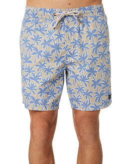 TAN FLORAL MENS CLOTHING BARNEY COOLS BOARDSHORTS - 801-CC1TANFL