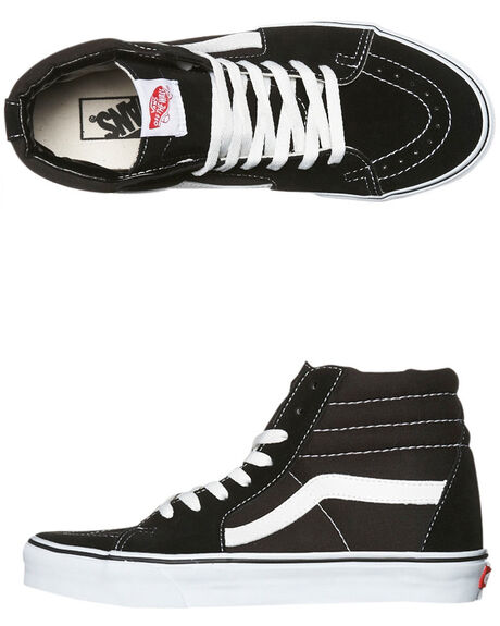 BLACK WOMENS FOOTWEAR VANS SNEAKERS - SSVN-0D5IB8CW
