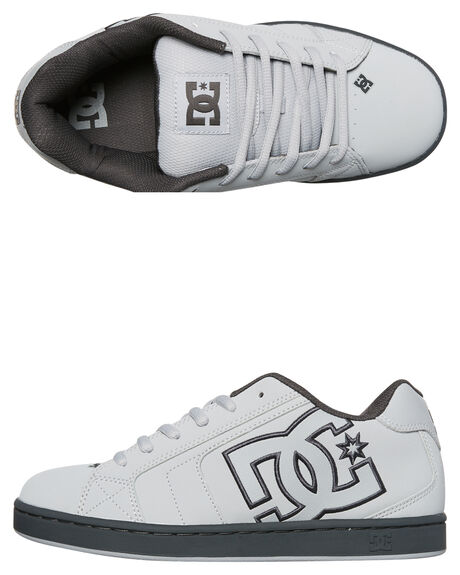 GREY GREY WHITE MENS FOOTWEAR DC SHOES SKATE SHOES - 302361XSSW