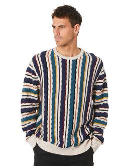 JACQUARD STRIPE MENS CLOTHING BARNEY COOLS KNITS + CARDIGANS - 407-Q220JACQ