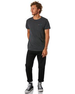 DIRTY BLACK MENS CLOTHING BANKS TEES - WTS0282DBL