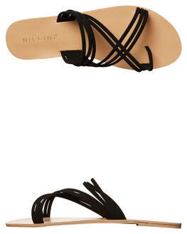 BLACK NUBUCK WOMENS FOOTWEAR BILLINI FASHION SANDALS - S490BLK