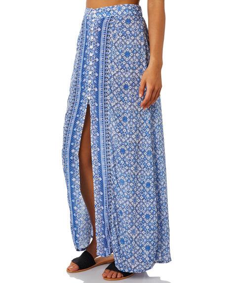 AMPARO BLUE WOMENS CLOTHING RUSTY SKIRTS - SKL0472BLUE