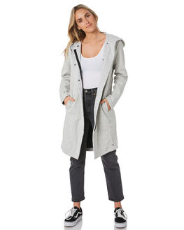 GREY HEATHER WOMENS CLOTHING HURLEY JACKETS - CJ8238050