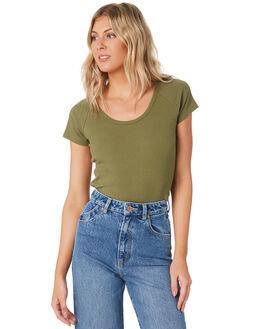 OLIVE WOMENS CLOTHING ROLLAS TEES - 13256OLV