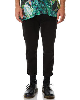BLACK MENS CLOTHING THRILLS PANTS - TA8-402BBLK