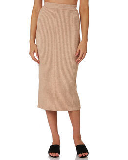 STONE WOMENS CLOTHING NUDE LUCY SKIRTS - NU236124463