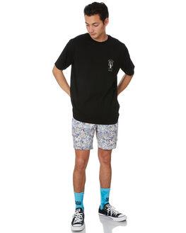 BLACK MENS CLOTHING BARNEY COOLS TEES - 109-Q220BLK