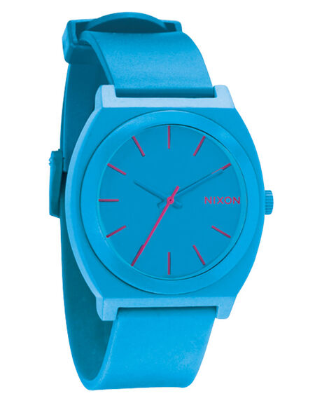 nixon time teller p watch bright blue surfstitch. Black Bedroom Furniture Sets. Home Design Ideas