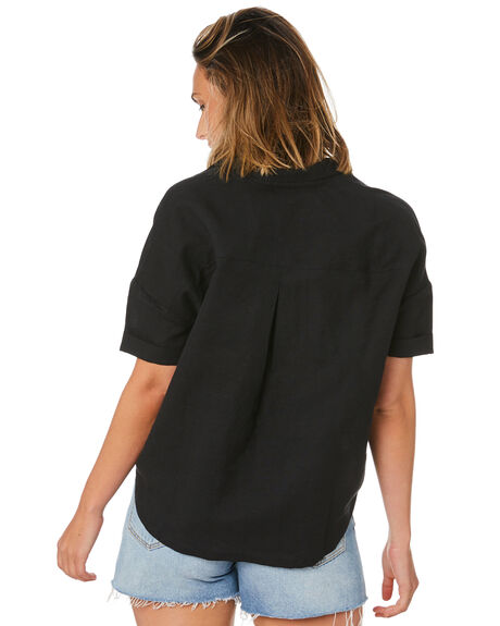 WASHED BLACK WOMENS CLOTHING SWELL FASHION TOPS - S8211169WSHBK