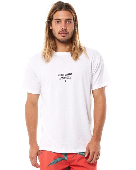WHITE MENS CLOTHING THRILLS TEES - TH8-139AWHT