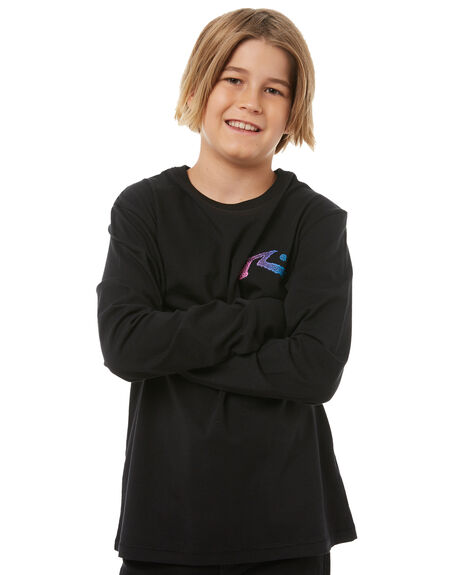 BLACK KIDS BOYS RUSTY TEES - TTB0573BLK