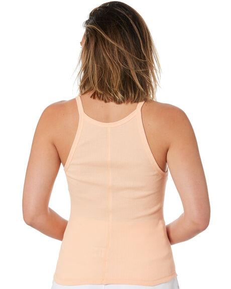 PEACH WOMENS CLOTHING STUSSY SINGLETS - ST102207PEACH