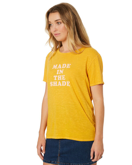 GOLDEN GLOW WOMENS CLOTHING BILLABONG TEES - 6582021GOL