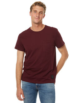 DARKEST RED MENS CLOTHING CHEAP MONDAY TEES - 0443351DRED