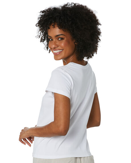 WHITE WOMENS CLOTHING SWELL TEES - S8212001WHITE