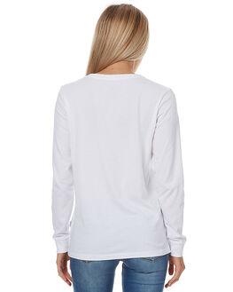 WHITE WOMENS CLOTHING RVCA TEES - R273100WHT