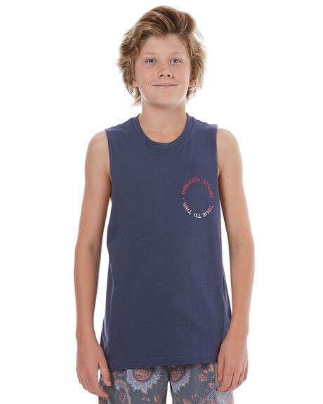 BLUE KIDS BOYS VOLCOM SINGLETS - C3731772BLU
