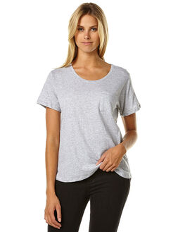 GREY MARLE WOMENS CLOTHING SILENT THEORY TEES - 6021009GRY