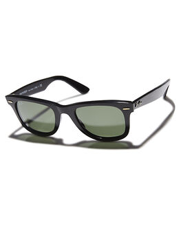 BLACK CRYSTAL GREEN UNISEX ADULTS RAY-BAN SUNGLASSES - 0RB214050901