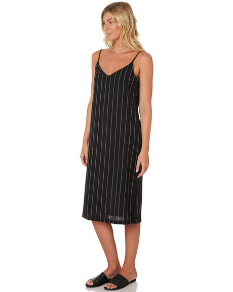 BLACK WHITE STRIPE OUTLET WOMENS SWELL DRESSES - S8189446BLKWH