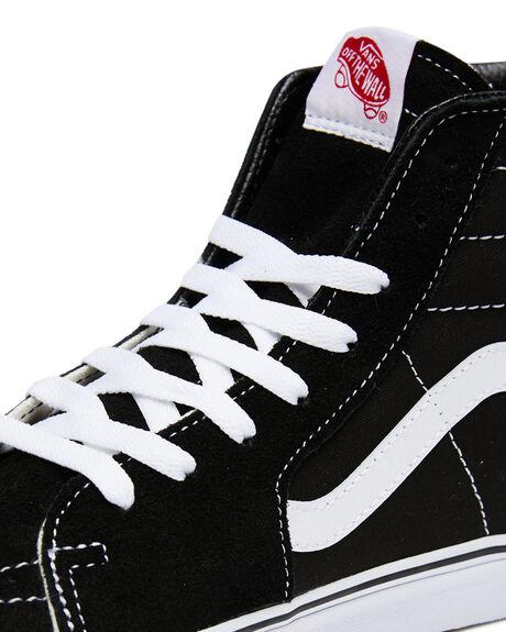 BLACK MENS FOOTWEAR VANS SKATE SHOES - SSVN-0D5IB8CM