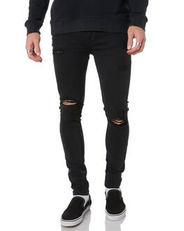 FADED BLACK MENS CLOTHING THE PEOPLE VS JEANS - SS167015FABLK