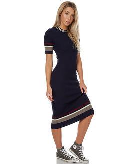 NAVY CREAM BURGANDY WOMENS CLOTHING THE HIDDEN WAY DRESSES - H8172445NVY