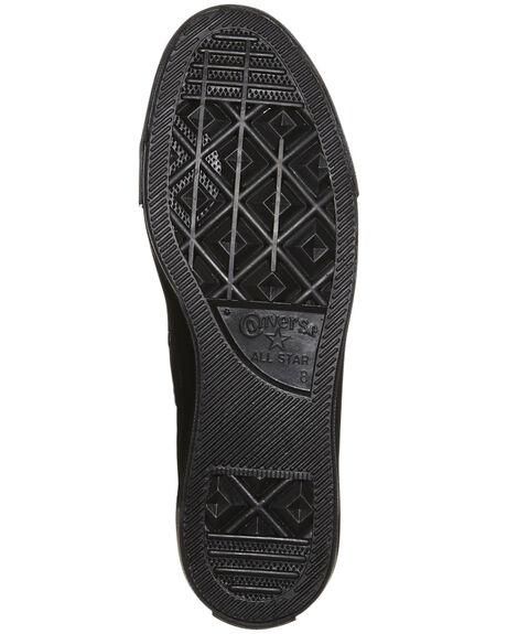 BLACK MONOCHROME MENS FOOTWEAR CONVERSE SNEAKERS - SS13310BLKMOM